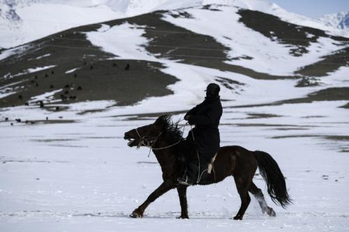 Western Mongolian nomads lifestyle and wildnature